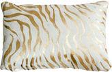 Le-Coterie Baby Zebra Hide Pillow, Gold
