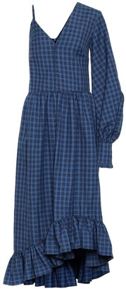 Rokh Checked twill dress