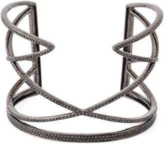 Joëlle Jewellery Geometric Diamond Cuff