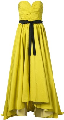 Bambah Ruched Bustier Bow Gown
