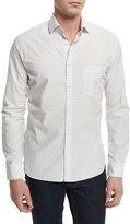 Billy Reid John Diamond-Pattern Sport Shirt, White