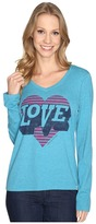 Life is Good Love Heart Long Sleeve Cool Vee Women's Long Sleeve Pullover
