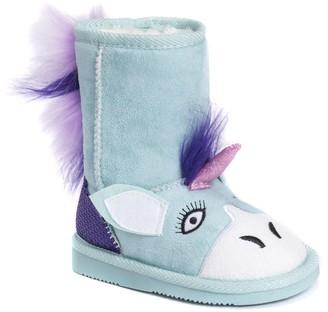 Muk Luks Boys Rainy Unicorn Boots Fashion