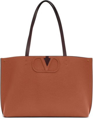 Valentino Garavani Small V-Logo Leather Tote