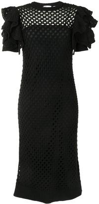 RED Valentino Crochet Mid-Length Dress