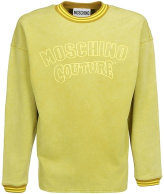 Moschino Logo Embroidered Sweatshirt