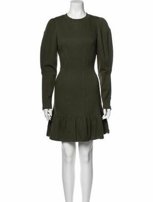 Ulla Johnson Crew Neck Mini Dress w/ Tags Green