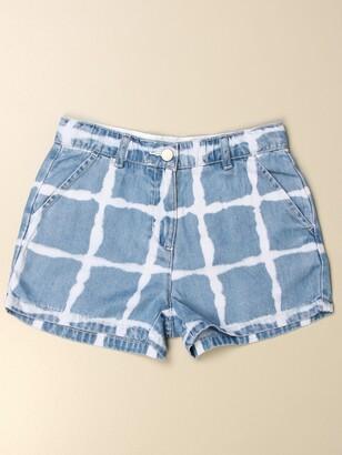 Stella McCartney Denim Shorts With Tie Dye Print