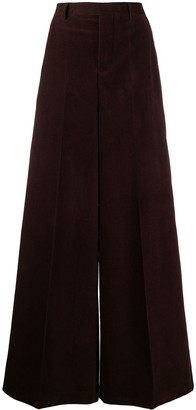 Rick Owens High-Waisted Corduroy Flare Trousers