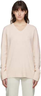 The Row Beige Elaine V-Neck Sweater