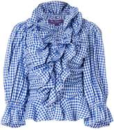 Ralph Lauren checked ruffled blouse