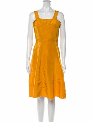 Lanvin 2005 Knee-Length Dress Yellow