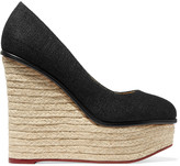Charlotte Olympia Carmen canvas espadrille wedges