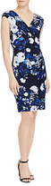 Lauren Ralph Lauren Floral Print Jersey Dress, Lighthouse Navy/Colonial Cream