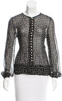 Etoile Isabel Marant Printed Long Sleeve Top