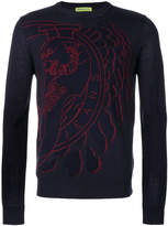 Versace logo print jumper