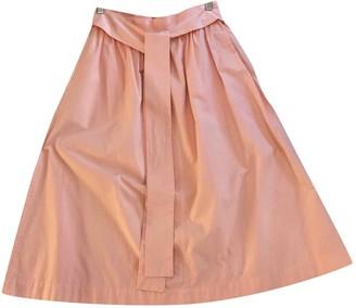 Saint Laurent Pink Cotton Skirt for Women Vintage