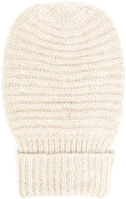 Peserico Rib-Knit Beanie Hat