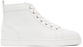 Christian Louboutin White Louis High-Top Sneakers