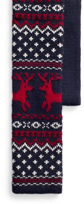 Ralph Lauren Reindeer Knit Wool Tie