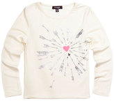 Imoga Heart & Arrow Graphic Jersey Tee, White, Size 8-14