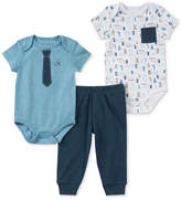 Calvin Klein 3-Pc. Printed Bodysuits & Pants Set, Baby Boys