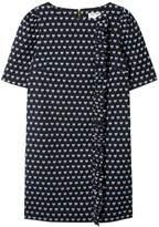 Dagny - Chloé Ruffle Side Shift Dress Jacquard