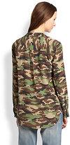 Equipment Blaise Silk Camouflage-Print Shirt