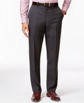 Alfani Big and Tall Slim Charcoal Flat-Front Pants, Only at Macy's