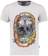 Just Cavalli Print Tshirt Grey Melange