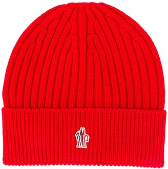 MONCLER GRENOBLE Embroidered Logo Ribbed Beanie