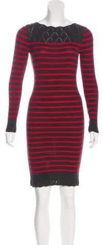 Jean Paul Gaultier Soleil Virgin Wool Striped Dress