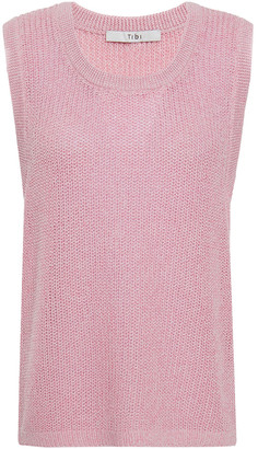 Tibi Melange Cotton Top
