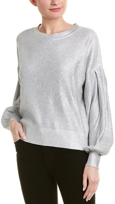 BCBGMAXAZRIA Holographic Sweater