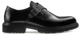 HUGO BOSS Smooth-leather monk shoes with lug sole