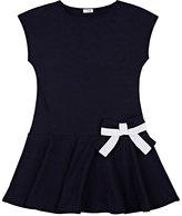 Il Gufo Bow-Appliquéd Cotton-Blend Dress