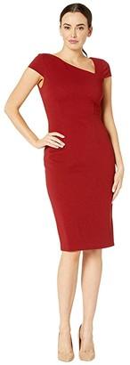 Adrianna Papell Ottoman Sheath Dress (Autumn Blaze) Women's Dress