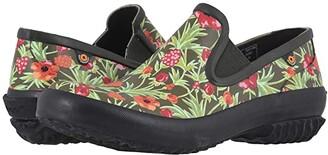 Bogs Patch Slip-On Vine Floral (Dark Green Multi) Women's Clog Shoes