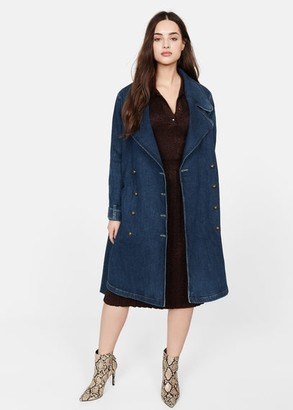 MANGO Double breasted denim trench