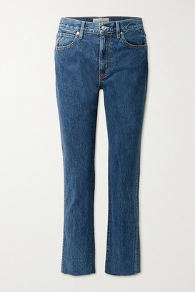 SLVRLAKE Hero Frayed High-rise Straight-leg Jeans - Mid denim