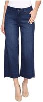 Liverpool Layla Wide Leg Crop with Released Hem on Silky Soft Denim in Havasu Deep Blue Women's Jeans