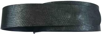 Maison Margiela Metallic Leather Belts