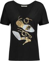Halston Metallic printed modal T-shirt