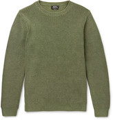 A.p.c. - Anton Slim-fit Ribbed Cotton Sweater