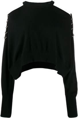 Diesel cold-shoulder sweater