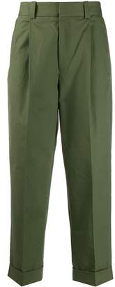 Acne Studios cuffed hem pleated trousers