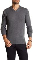 Autumn Cashmere Ribbed Knit Trim Cashmere Sweater