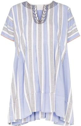 Lemlem Amira striped mini smock dress