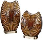 Uttermost Zarina 2-piece Starburst Vase Set