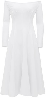 Norma Kamali Grace Off-the-shoulder Jersey Dress - White